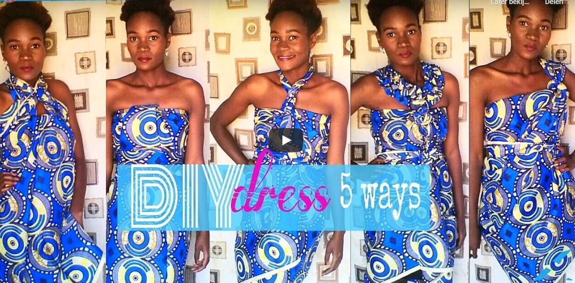 African Scarf diy dress 5 ways